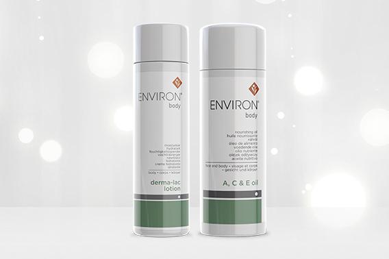 Body Range - Derma Lac Lotion & A C E Body Oil - Featured | Environ Skin Care