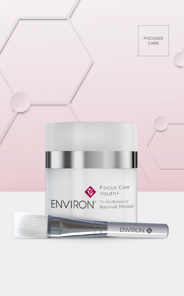 Environ Focus Care Youth+ Tri BioBotanical Revival Masque with brush