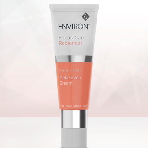 A tube of Environ Focus Care Radiance+ Intense C-Boost Mela-Even Cream