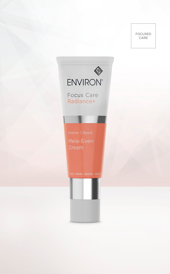 A tube of Environ Focus Care Radiance+ Intense C-Boost Mela-Even Cream