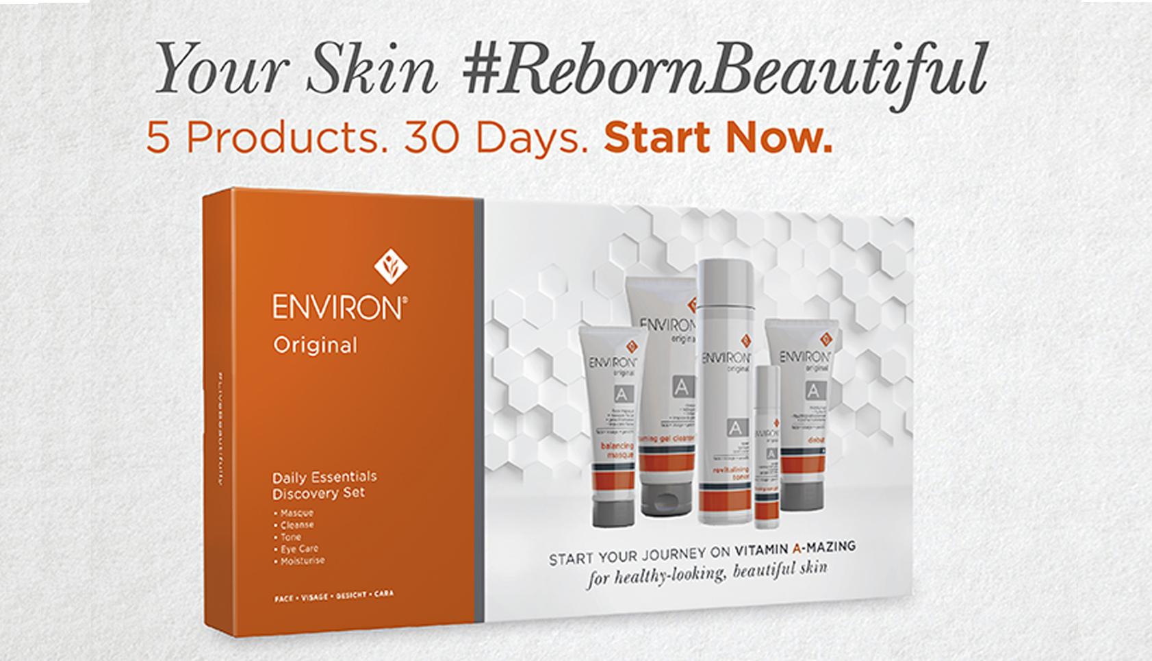 Bring your skin back to beautiful - Original Discovery - Promo - hero - Environ Skin Care