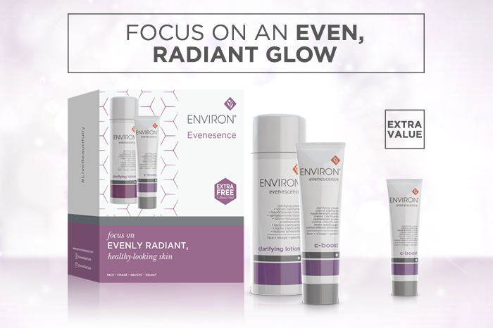 Environ's Evenescence Extra Value Offer Range Launch showcasing all new products
