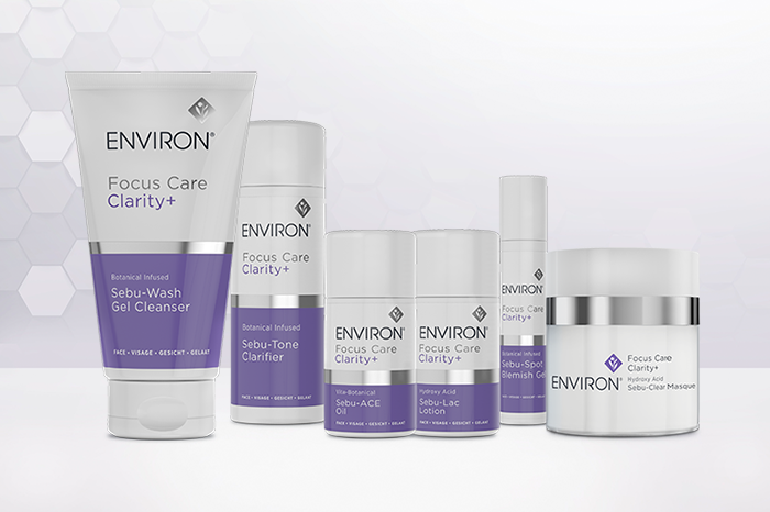 Environ Focus Care Clarity+ Range, white background