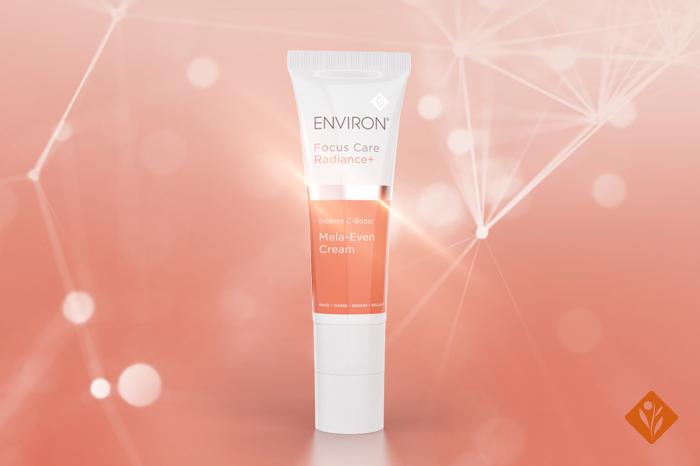 Environ Focus Care Radiance+ C-Boost Mela-Even Cream, sparkly background