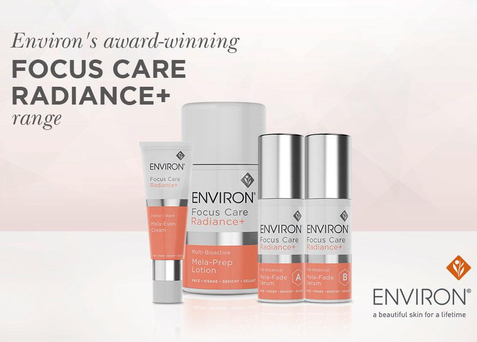 Environ Focus care radiance range+ banner